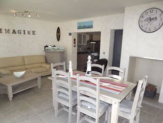 Maison renovee bassin d'Arcachon plage clim 8 pers, WIFI  jardin clos,animaux ok
