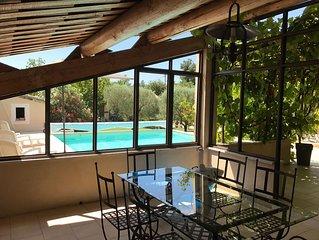 Villa provençale avec piscine proche Avignon