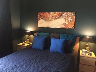 Chambre luxueuse et dinner 3 etoiles dans un magnifique appartement partage.