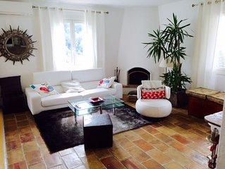 A Saint Paul de Vence appt au calme dans villa provencale avec pisc