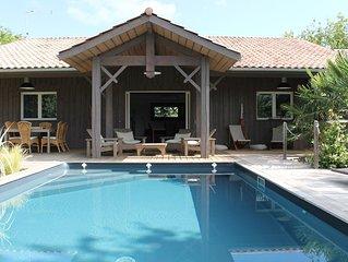 Villa bois typique Lège Cap Ferret avec piscine
