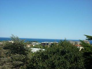 Antibes joli 3 pièces, clair et lumineux, belle vue mer et piscine