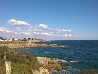 Lomener, Maison à 50 m de la plage et du port