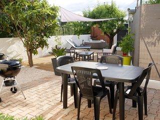 Maison de vacances 4-6 pers, rénovée, climatisée, jardin avec spa
