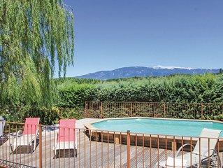 Maison avec piscine chauffee  a  Mormoiron au pied du Mt Ventoux