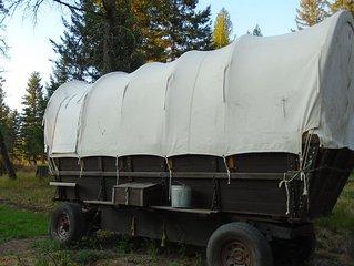 Prairie Schooner campsite 4 Caribou Trail Wagon Camp