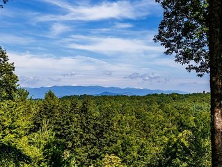 Brevard Retreat Home with Amazing Long Range Views, Porch & Upscale Furnishings