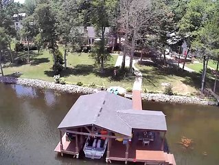 Waterfront home!  Boat house and dock on Guntersville.  Beautiful views!