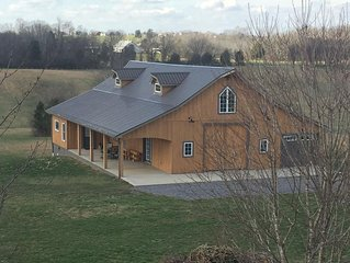 The Mockingbird Farm 'Barn-do-minium' is privately situated on 27 rolling acres.