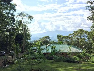 Elegant rainforest retreat, with loads of animals, beautiful views