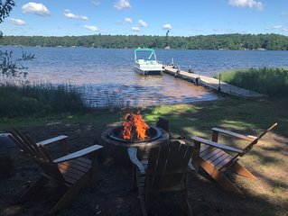 Condos on Big Bear Lake, Webb Lake WI. Gorgeous swimming beach! On ATV/UTV Trail