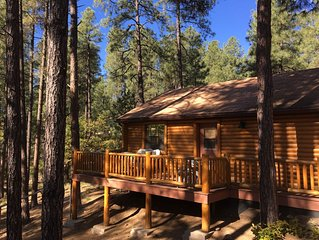 Guest house with deck in the forest just west of Prescott