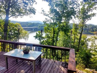 Charming Cabin at Lake Tillery with Spectacular Poolside Views and Boat Dockage