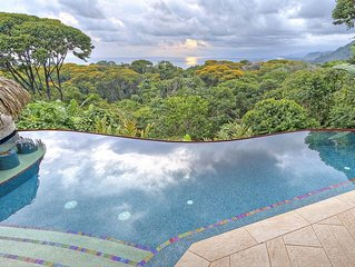 Ocean View Jungle Villa Wedding retreat with infinity pool minutes to the beach