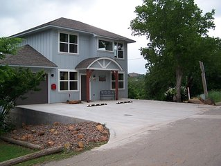 2-story- 2 covered decks in Medicine Park, OK. Completed ******** first to rent.