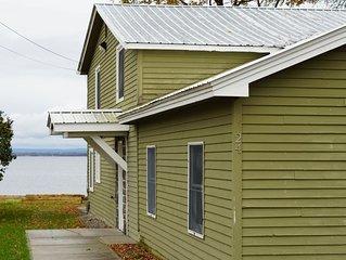 Newly Renovated Waterfront House on Lake Champlain - Beautiful Views - 4 BR!