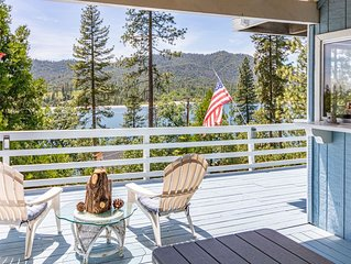 Large Bass Lake Home with Amazing Views and Boat Slip!