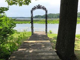 Corey Lake, Dock, Deck, Water Skiing, Fishing. Apple Picking