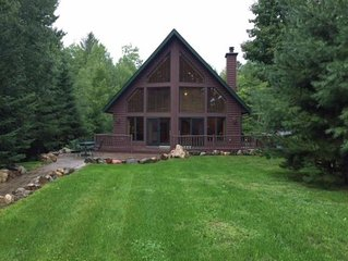 Lake home on beautiful private lake, 15 miles from downtown Hayward, WI