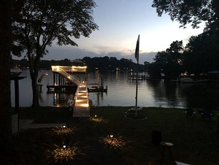 New Lakefront Listing! Sunsets, dock slide and more at Heron House!