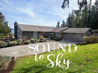 Bainbridge Island View Home perfect for families!