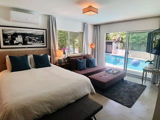 Fab HOLLYWOOD Double-suite - luxurious oasis, modern poolside and king suite!