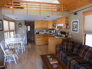 Two bedroom creek front pet friendly cabin!