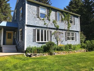 Charming Coastal Cottage, In-town, Quiet Street with Spacious Gathering Areas