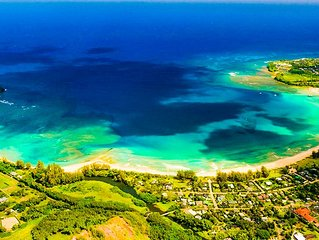 Beautiful 4 Bedroom just 100 yards to Hanalei Bay!