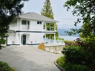 Large Water View Home w/ Private Pool in Gibsons!