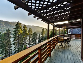 BEST VIEW! Rustic Lakefront Cabin on Lake Gregory/Arrowhead