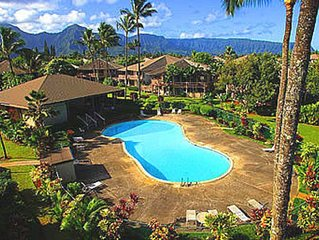 Beautiful 3 bedroom for 8 villa, above famous Anini Beach!