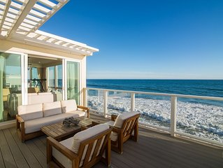 Stunning Beachfront Retreat on Exclusive Malibu Road in the Heart of Malibu!