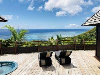 MOOREA Villa Te Maka #40 Legends Residences, 4 pax, Ocean View, Jacuzzi, A/C