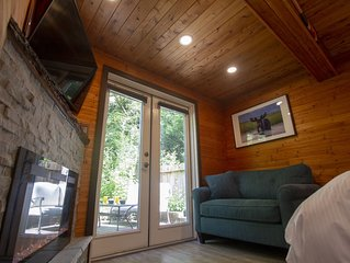 Luxury cottage is a private, self-contained unit with a private outdoor hot tub