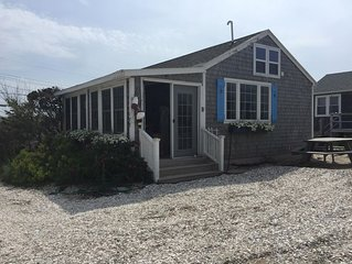 ON THE BEACH WITH WATER VIEWS! Private East Sandwich Beach! Great Cottage