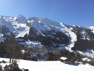 La Clusaz Ski Apartment, 3***south facing with glorious mountain views + balcony