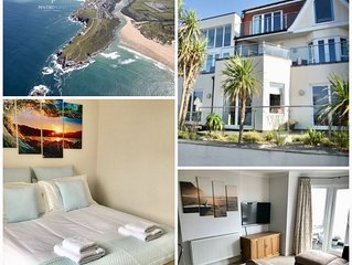 Golden Bay Apartments overlooking Fistral Beach.