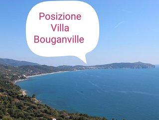 Villetta con giardino, posto auto, discesa a mare privata 4+2 posti letto