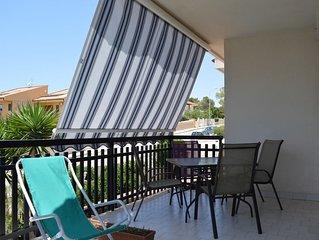 Villetta con terrazza in zona residenziale