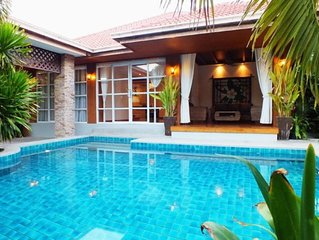 4 Bedroom Bungalow with Private Pool 1km from Beach/Walking Street 10 min away