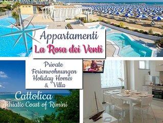 La Rosa dei Venti Appartamenti *** a Cattolica Beach (Adriatic Coast of Rimini)