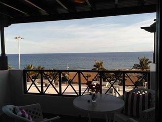 Apartamento Tabaibas frente a playa grande con vistas al mar y piscina comun