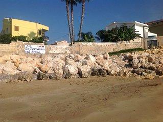 dependance ,studio in riva al mare,giardino,accesso  spiaggia,wifi,solarium