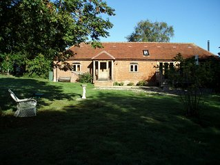 Converted stable in secluded rural setting.