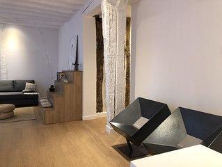 Apartamento minimalista en el corazón de Bilbao, metro y parking a 50m