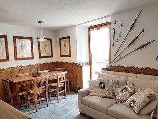Courmayeur casa con vista, appartamento con balcone