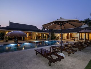 1900m2 private villa with big pool, perfect for families & free WiFi. In Hua Hin