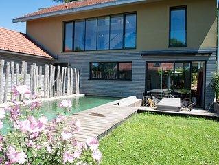 Ferienhaus mit Naturpool am Starnberger See und in der Nahe von Munchen