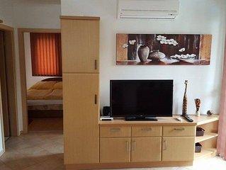 Moderne Appartement mit Klima für 4+2 Personen mit Pool und Grill,kostenlos WIFI